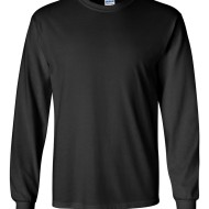 2400 - Adult Gildan - Ultra Cotton Long Sleeve T-Shirt - black - front