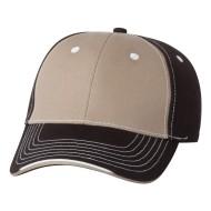 25495 - Sportsman hat - khaki black - front