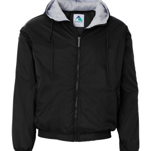 62334 - Adult Hooded fleece lined jacket - front - black
