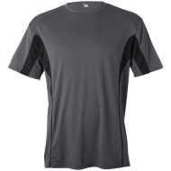 83585 - Badger SS Adult Colorblocked T - front - graphite black