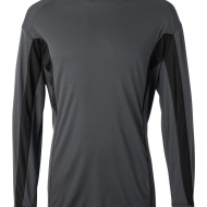 83685 - Badger LS Adult Colorblocked T - front - graphite black