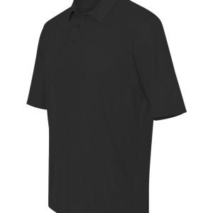 16734 - Augusta Vision Textured Knit Sport Shirt 5001 - black - side