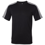Adidas Golf ClimaLite Three Stripes Golf Tee - black - front