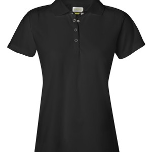 SS13398 - IZOD Ladies' Performance Pique Sport Shirt with Snaps 13Z0081 - black - front