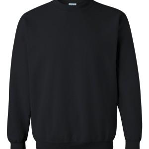 SS21060 - Gildan Crew Neck Sweatshirt - black - front