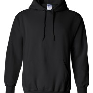 SS22060 - Gildan Hooded Sweatshirt - black - front