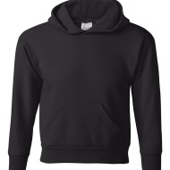SS32000 - Hanes ComfortBlend_ EcoSmart_ Youth Hooded Sweatshirt P473 - black - front
