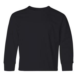 SS34035 - JERZEES Heavyweight Blend_ 50-50 Youth Long Sleeve T-Shirt 29BLR - black - front