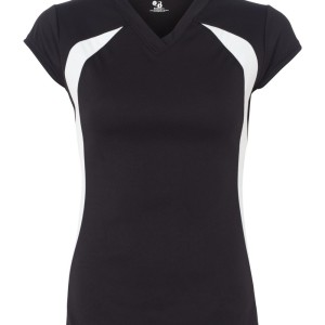 SS55185 - Badger Ladies' B-Dry Core Volleyball Shirt 6161 - black - front