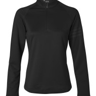 SS56053 - adidas Golf Ladies' Performance Quarter-Zip Training Top A175 - black - front