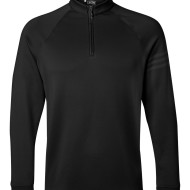 SS67453 - adidas Golf Performance Quarter-Zip Training Top A74 - Black - front