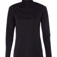 SS83707 - alo Ladies' Quarter-Zip Lightweight Pullover W3006 - black - front